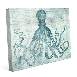 'Vintage Octopus Ocean Blue' Canvas Wall Graphic