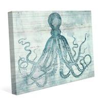'Vintage Octopus Ocean Blue' Canvas Wall Graphic