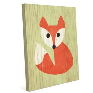'Little Fox Summer' Canvas Wall Graphic