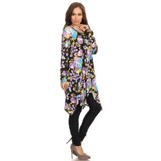 Women's Floral Pattern Rayon/Spandex Tunic