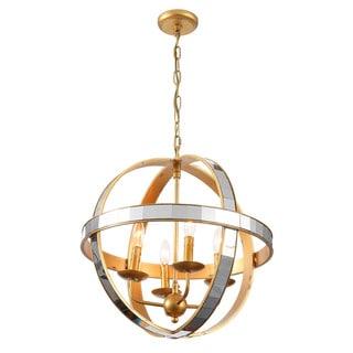 Mirror Gold Orbit Chandelier