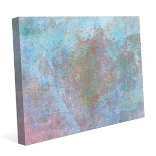 'Sky Floret' Multicolor Abstract Graphic Gallery-wrapped Canvas Wall Art