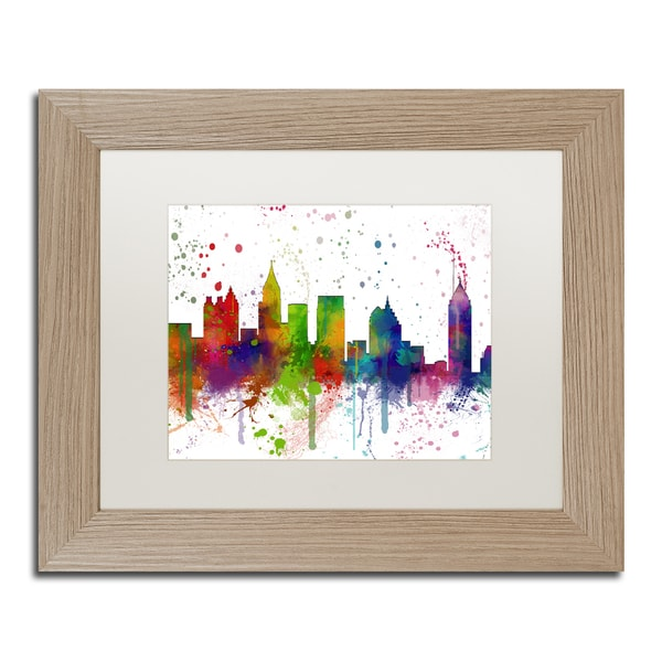 Marlene Watson 'Atlanta Georgia Skyline Mclr-1' Matted Framed Art
