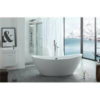 Legion Furniture White Acrylic 71-inch Freestanding Bathtub