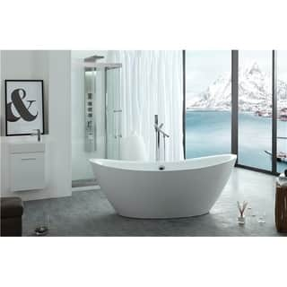 freestanding tub with jets. Legion Furniture White Acrylic 71 inch Freestanding Bathtub Tubs Store For Less  Overstock com