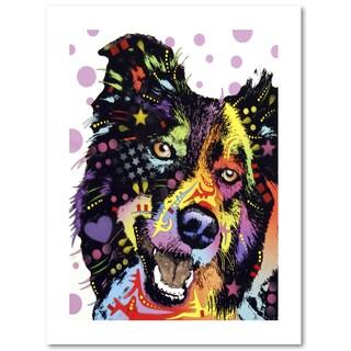 Dean Russo 'Border Collie' Paper Art