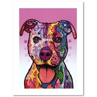 Dean Russo 'Cherish The Pitbull' Paper Art