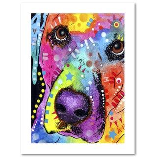 Dean Russo 'Closeup Labrador' Paper Art