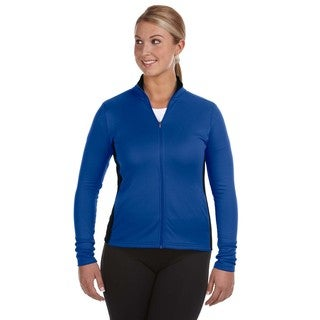 Performance 5.4-ounce Women's Colorblock Full-zip Athletic Royal/ Black Jacket