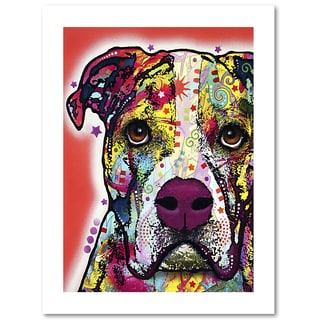 Dean Russo 'American Bulldog' Paper Art