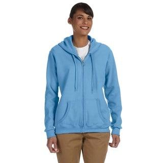 Heavy Blend Women's 50/50 Carolina Blue Full-zip Hoodie