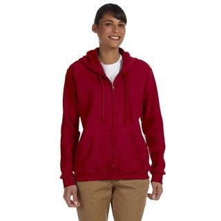 Heavy Blend Women's 50/50 Cardinal Red Full-zip Hoodie