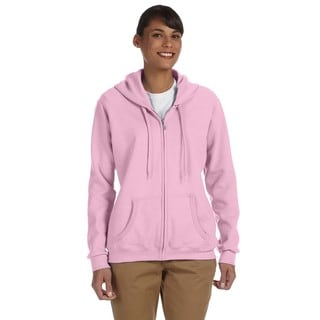 Heavy Blend Women's 50/50 Light Pink Full-zip Hoodie