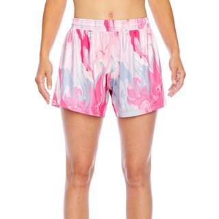 All Sport Women's Sublimated Pink Swirl Sport Pink Swirl Short