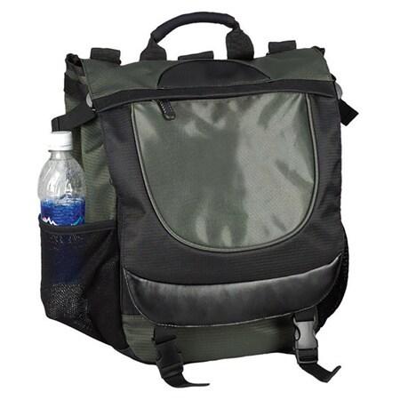 Goodhope Olive Vertical Briefcase Backpack