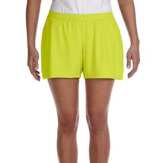 Performance Women's Sport Safety Yellow Short