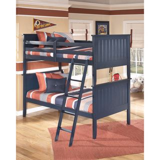 Signature Design by Ashley Leo Blue Twin Bunk Bed