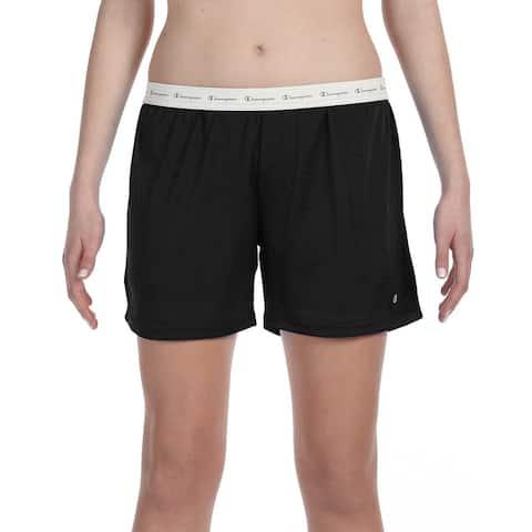 Polyester Women's Mesh Body Mesh Black Short