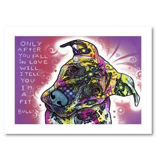 Dean Russo 'I'm a Pit Bull' Paper Art