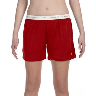 Polyester Women's Mesh Body Mesh Scarlet Short