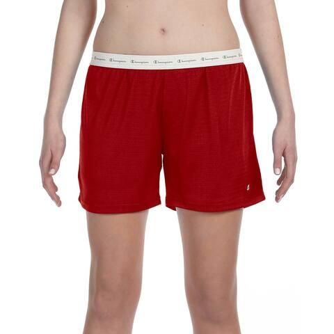 Polyester Women's Mesh Body Mesh Scarlet Short