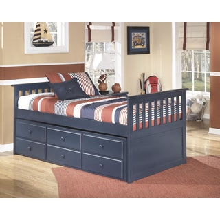 Signature Design by Ashley Leo Blue Twin Trundle Bed