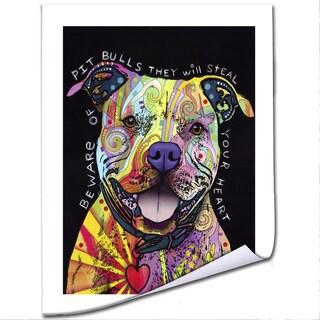Dean Russo 'Beware of Pit Bulls' Paper Art