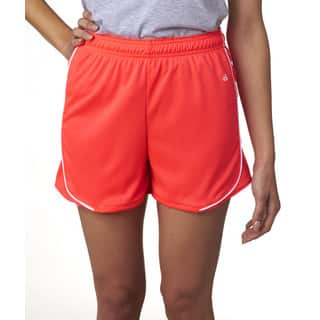 3-inch Inseam Women's Pacer Performance Hot Coral/ White Short|https://ak1.ostkcdn.com/images/products/12264520/P19104866.jpg?impolicy=medium