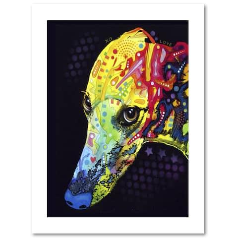 Dean Russo 'Greyhound' Paper Art
