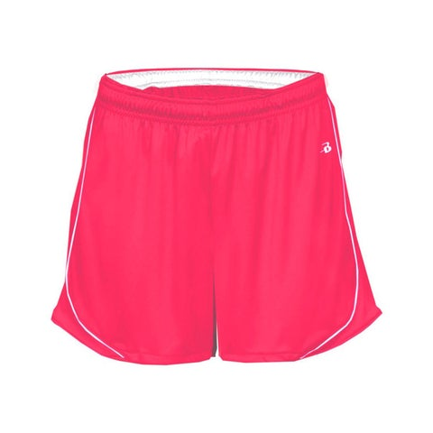 3-inch Inseam Women's Pacer Performance Hot Pink/ White Short