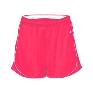 3-inch Inseam Women's Pacer Performance Hot Pink/ White Short