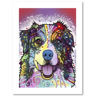 Dean Russo 'Australian Shepherd' Paper Art