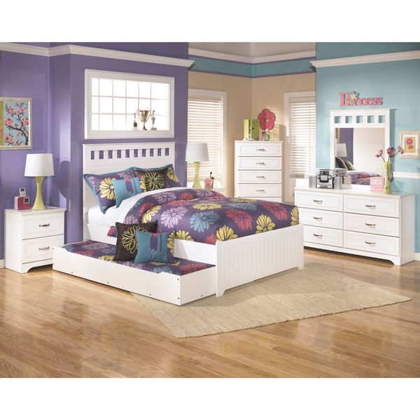 Shop Signature Design By Ashley Lulu White Twin Trundle Bed Free Shipping Today Overstock
