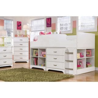 Signature Design by Ashley Lulu White Twin Loft Bed