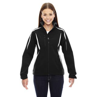 Enzo Women's Colorblocked Three-layer Fleece Bonded Soft Shell Black 703 Jacket|https://ak1.ostkcdn.com/images/products/12264629/P19104821.jpg?impolicy=medium