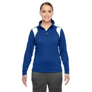 Elite Women's Sport Royal/ White Performance Quarter-zip