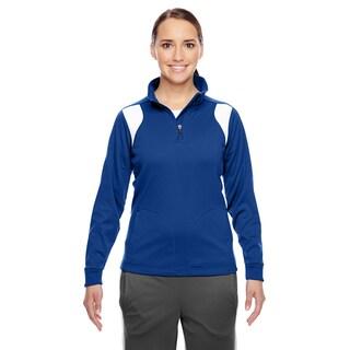 Elite Women's Sport Royal/ White Performance Quarter-zip (More options available)