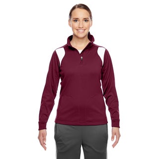Elite Women's Sport Maroon/ White Performance Quarter-zip