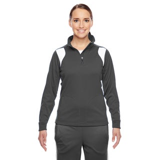 Elite Women's Sport Graphite/ White Performance Quarter-zip