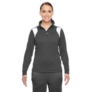Elite Women's Sport Graphite/ White Performance Quarter-zip (More options available)