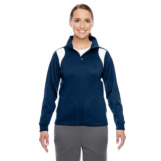 Elite Women's Sport Dark Navy/ White Performance Quarter-zip