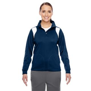 Elite Women's Sport Dark Navy/ White Performance Quarter-zip