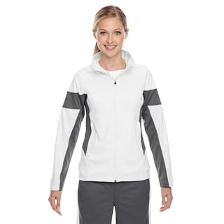 Elite Women's White/ Sport Graphite Performance Full-zip