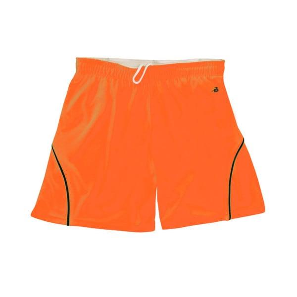 "B-core """"closer"""" 6-inch Women's Athletic S Safety Orange/ Black Short"