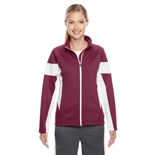 Elite Women's Maroon/ White Performance Full-zip Sport