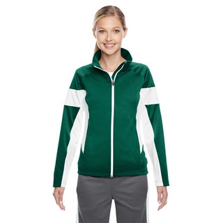 Elite Women's Forest/ White Performance Full-zip Sport
