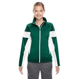 Elite Women's Forest/ White Performance Full-zip Sport