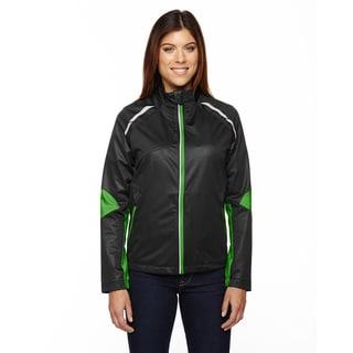 Dynamo Women's Three-layer Lightweight Bonded Performance Hybrid Black/ Acid Grn 453 Jacket