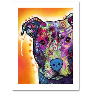 Dean Russo 'Heart U Pit Bull' Paper Art