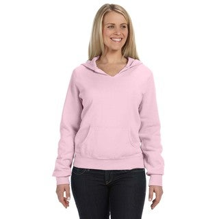 Women's Garment-dyed Front-slit Hoodie Blossom Pullover